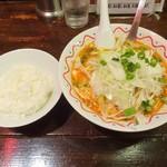 88321738 - ネギカラ麺、半ライス