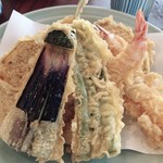 銀座 天國 - お昼の天ぷら定食 1,400円