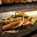 鉄板中華 伊とう - ■季節野菜の鉄板焼き