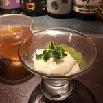 鉄板中華 伊とう - ■自家製 杏仁豆腐と、ジャスミンティーホット