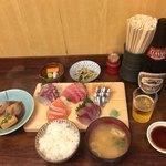 和食 かとう - 牡丹御膳 タイ、中トロ、キビナゴ、サーモン、ブリ