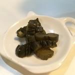 プチレストラン 喜和深 - 胡瓜の漬物