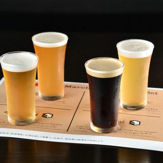 月替わりでラインナップも変わる♪クラフトビール飲み比べ◎