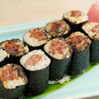 """天然本マグロ使用!大井町名物""""焼き寿司""""に魅せられて…。"""