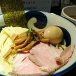 九十九里煮干つけ麺 志奈田 - 濃厚海老つけ麺 1000円 味玉 100円