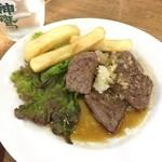 グッドラックカフェ - おつまみステーキ