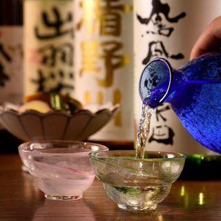 こだわりの銘柄日本酒が楽しめる!