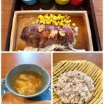 Cafe&Dining cocola - 牛さがりステーキランチ(ドリンク付) 1400円 お客の靴を扱ったその手で御膳を運ぶのはちょっと…
