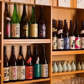 信州の地酒が豊富!!常時約20種類ご用意。