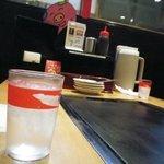 鶴橋風月 - 美味しいお水。