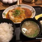 小ぼけ - かつ玉定食(800円)