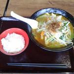88358153 - 野菜カレーラーメン+野菜マシ+ライスセット