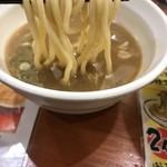 つけ麺 津気屋 - 煮干しつけ麺  麺リフトアップ