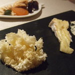ラ メゾン ドゥ グラシアニ - 舞茸みたいなチーズとカマンベールとブルーチーズ!