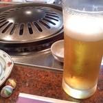 肉料理 荒川 - ビールと焼き網?