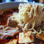 麻婆豆腐・担々麺 トト - 縮れ麺もモチッとして美味しかったです。