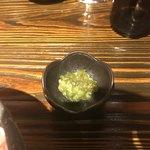 個室ワインバル ハングリーチキン - 知覧どりの生親子丼の薬味の生山葵。       美味し。
