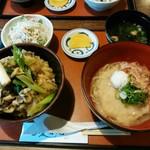 蕎楽 愛宕庵 - 料理写真:「舞茸天丼セット」