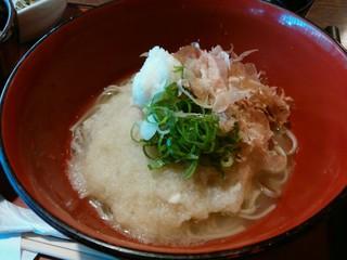 蕎楽 愛宕庵 - 「舞茸天丼セット」の 辛味おろし蕎麦