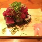 防波亭 - 中落ちのっけ寿司 600円