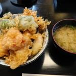 天冨久 - 天丼セット ¥1,100