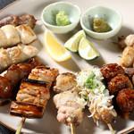 鶏ジロー - 料理写真:焼き鳥12本盛り合わせ