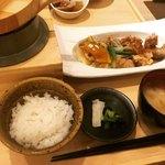 五穀 - 健康黒酢あん定食