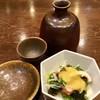 ひろめ寿し - 料理写真:「ほろ酔いセット」(1000円税別)の酒と小鉢。