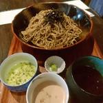蕎麦cafeダイニング イベリスside - ピスタチオエスプーマ他つけ汁