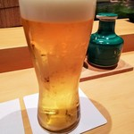 鮨 いし黒 - 生ビール
