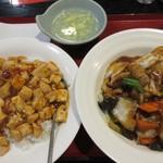 中華料理 回味 - 焼きそばランチ(五目焼きそば+麻婆飯)