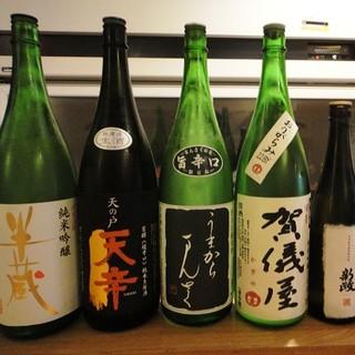 日本酒は40種類以上ご用意しております