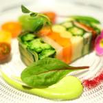 ゴーシェ - ランチコース 4640円 の9種類の野菜のテリーヌ