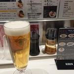 北新地 海老拉麺 キョウハ・エビ - ハートランド 生ビール