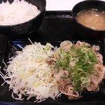 吉野家 - ねぎ塩豚定食@550