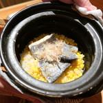 燗コーヒー藤々 - タチウオととうもろこしの炊き込みご飯2400円