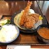 富金豚 - 料理写真:大海老フライと特製メンチカツ御膳