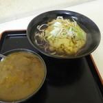 新月 - かき揚げの天ぷらそば&ミニカレー丼