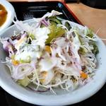 かあさんのおむすびの店 - 新鮮野菜サラダ