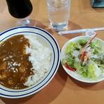 鹿児島県庁 喫茶室 - 料理写真:カレー(飲み物、サラダ付)