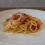 88392574 - 知多産フルーツトマトとバジルのスパゲッティ