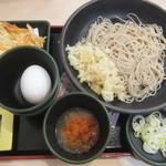 ゆで太郎 - 料理写真:朝そば(鬼おろし)330円・クーポンで生卵無料(2018.5.28)