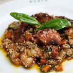 イタリア食堂 MARIA - 下津井タコのトマト煮と夏野菜のクスクス