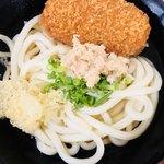 松下製麺所 - うどん1玉+コロッケ
