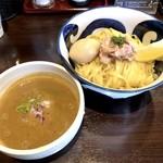 九十九里煮干つけ麺 志奈田 - 純濃煮干味玉つけ麺 中盛(990円)