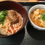 なか卯 - 料理写真:「冷やし坦々うどん(並)」490円也。+「親子丼(ミニ)」350円也。税込。