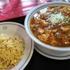 中華料理四川 - 料理写真:ラーメンチャーハンセット700円マーボメンに変更プラス150円