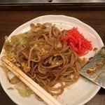 一銭坊 - A 肉、卵、そばランチ702円、特盛り+108円