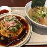 同源 - 料理写真:天津飯と醤油ラーメンのセット