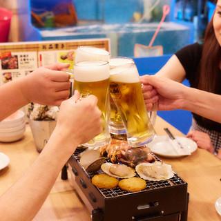 夏季限定★屋内ビアガーデンコース4000円♪